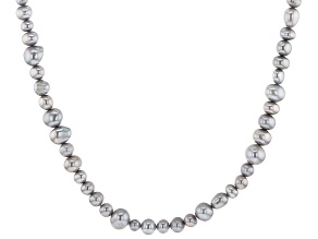 5-9mm Gray Cultured Freshwater Pearl, 36 Inch Endless Strand Necklace