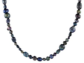 5-9mm Black Cultured Freshwater Pearl, 36 Inch Endless Strand Necklace