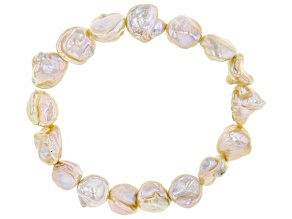 9-10mm Cultured Keshi Freshwater Pearl Stretch Bracelet