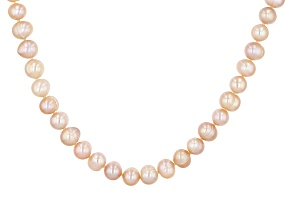 7.5-8.5mm Round Cultured Freshwater Pearl Endless Strand 80 inch Necklace