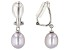 7-7.5mm Silver Cultured Freshwater Pearl Rhodium Over Sterling Silver Clip-On Earrings