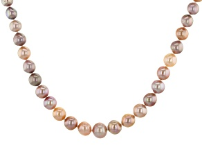 Genusis™ 6.5-11mm Multi-Color Cultured Freshwater Pearl Rhodium Over Silver 18 Inch Necklace