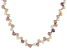 Genusis™5.5-7.5mm Multi-Color Cultured Freshwater Pearl 18k Yellow Gold Over Silver 18 inch Necklace