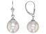 Genusis™ 10-12mm White Cultured Freshwater Pearl Rhodium Over Sterling Silver Drop Earrings