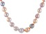 Genusis™ 10-12.5mm Multi-Color Cultured Freshwater Pearl Rhodium over Silver 20 inch Necklace Strand