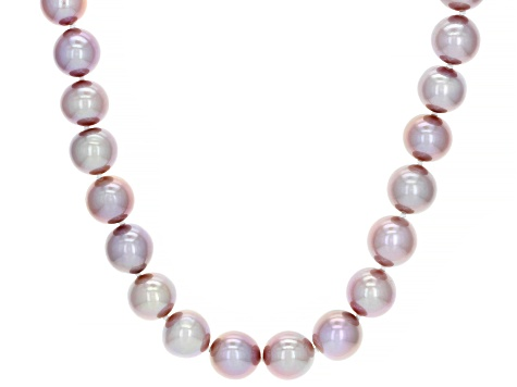 Genusis™ 10-12mm Lavender Cultured Freshwater Pearl 14k Yellow Gold 20 inch Necklace