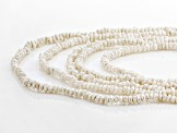 4-5mm White Cultured Freshwater Pearl Endless Necklace Set of Five