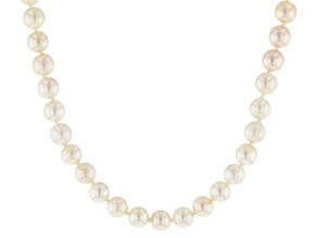 5.5-6mm White Cultured Japanese Akoya Pearl 60 inch Endless Necklace Strand