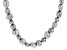 4-10mm Enhanced Silver Cultured Freshwater Pearl Endless Strand 36 inch Necklace