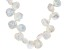 Cultured Keshi Freshwater Pearl Rhodium Over Silver 18 Inch Necklace With 2 Inch Extender