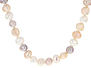 Multi-Color Cultured Freshwater Pearl Endless Strand Necklace 7-8mm