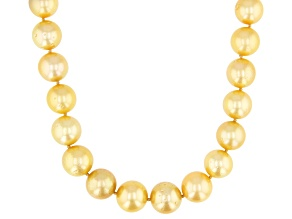 Cultured South Sea Pearl 14k Yellow Gold Necklace 12-14mm