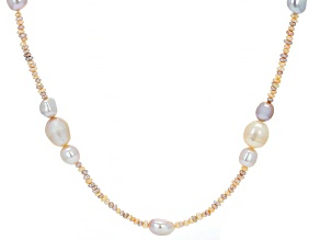 Multi-color Cultured Freshwater Pearl 60 Inch Endless Strand Necklace 3-11mm