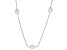White Cultured Freshwater Pearl Rhodium Over Sterling Silver 36 Inch Station Necklace
