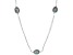 Black Cultured Freshwater Pearl Rhodium Over Sterling Silver 36 Inch Station Necklace