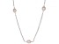 Pink Cultured Freshwater Pearl Rhodium Over Sterling Silver 36 Inch Station Necklace