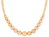 Genusis™ Peach Cultured Freshwater Pearl Rhodium Over Sterling Silver 18 Inch Necklace