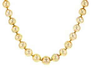 Golden Cultured South Sea Pearl 14k Yellow Gold 18 Inch Necklace