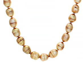 Golden Cultured Freshwater Pearl 14k Yellow Gold Over Sterling Silver 18 Inch Necklace
