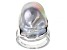 White Cultured Freshwater Baroque Pearl 20mm Rhodium Over Sterling Silver Ring