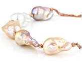 Genusis™ Cultured Freshwater Pearl 18k Rose Gold Over Sterling Silver 18 Inch Necklace