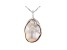 Genusis™ Cultured Freshwater Pearl Rhodium Over Sterling Silver Pendant