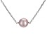 Lavender Cultured Freshwater Pearl 11-12 Sterling Silver 18 Inch Plus 2 Inch Extender Necklace