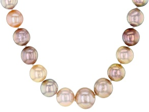 Genusis™ Multi-color Cultured Freshwater Pearl Rhodium Over Sterling Silver 20 Inch Necklace