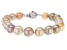 Genusis™ Multi-color Cultured Freshwater Peal Rhodium Over Sterling Silver 8 Inch Bracelet