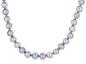 Silver Cultured Freshwater Pearl Rhodium Over Sterling Silver 20 Inch Strand Necklace