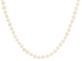 White Cultured Freshwater Pearl 6-7mm 64 Inch Endless Strand Necklace