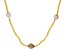 Genusis™ Cultured Freshwater Pearl & Champagne Crystal Rhodium Over Silver 32 Inch Necklace