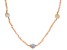 Genusis™ Cultured Freshwater Pearl & Pink Crystal Rhodium Over Silver 32 Inch Necklace