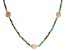 Genusis™ Cultured Freshwater Pearl & Green Crystal Rhodium Over Silver 32 Inch Necklace
