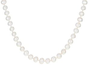 White Cultured Freshwater Pearl 60 Inch Endless Strand Necklace