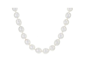 White Cultured South Sea Pearl 14k Yellow Gold 18 Inch Strand Necklace