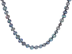 Black Cultured Freshwater Pearl 82 Inch Endless Strand Necklace