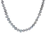 Silver Cultured Freshwater Pearl 82 Inch Endless Strand Necklace