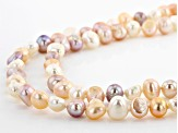 Multi-Color Cultured Freshwater Pearl 64 Inch Endless Strand Necklace Set of 2