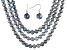 10-12mm Silver Cultured Freshwater Pearl Sterling Silver 18, 24, 36 inch Necklace & Earring Set
