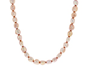 Pink Cultured Freshwater Pearl Endless Strand Necklace 70 inch