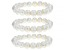 White Cultured Freshwater Pearl 10-11mm Stretch Bracelet Set of 3