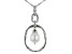 White Cultured South Sea Pearl Rhodium Over Sterling Silver Pendant With Chain