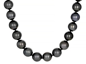 Cultured Tahitian Pearl 14k White Gold 17.5 Inch Necklace
