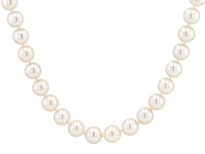 White Cultured South Sea Pearl 14k Yellow Gold 17.5 Inch Necklace