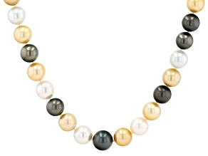 Multi-Color Cultured South Sea & Tahitian Pearl 17.5 Inch Strand Necklace