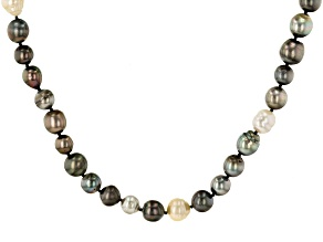 Multi-Color Cultured South Sea & Tahitian Pearl 34 Inch Endless Strand Necklace