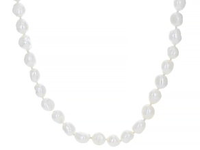 White Cultured Freshwater Pearl 64 Inch Endless Strand Necklace