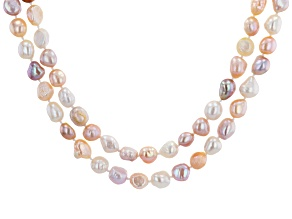 Multi-Color Cultured Freshwater Pearl 64 Inch Endless Strand Necklace