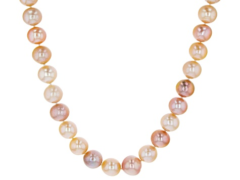 Multi-Color Cultured Freshwater Pearl Rhodium Over Silver Necklace
